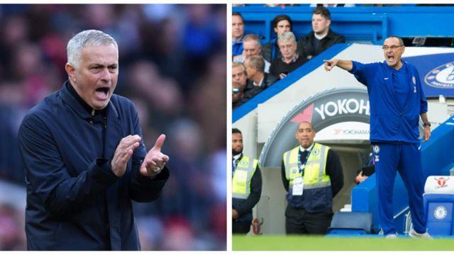 Jose Mourinho àti Maurizio Sarri