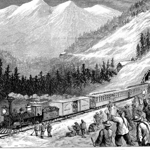 Un dibujo del ferrocarril