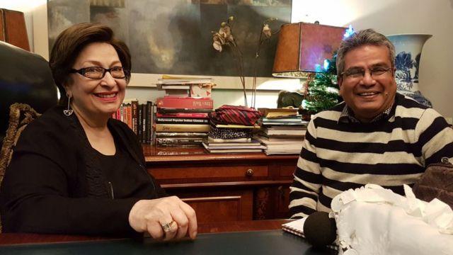 राजकपूर की बेटी रितु नंदा के साथ रेहान फ़ज़ल