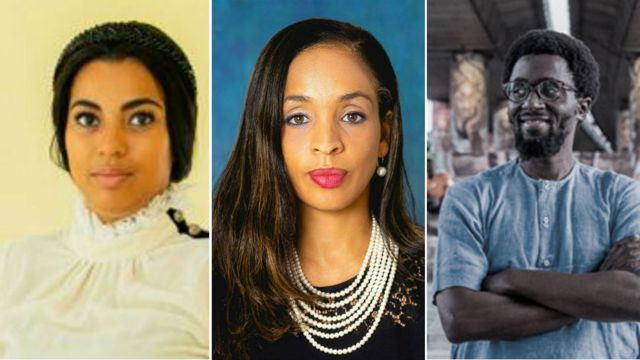 Un composite de Marifa Witte, Ndidi Nwuneli et Papa Omotayo