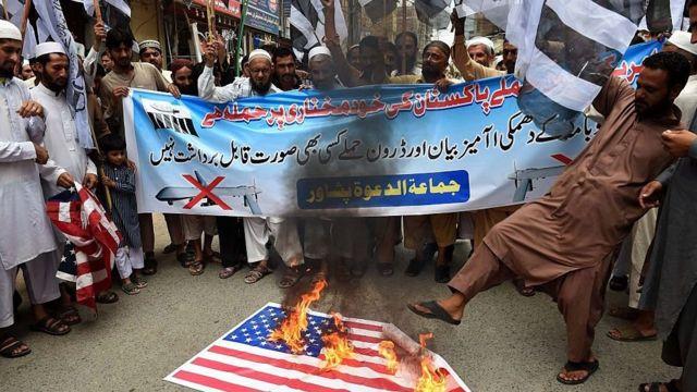 پاکستان کې د امریکا ډرون برید پر ضد په وار وار لاریونونه شوي