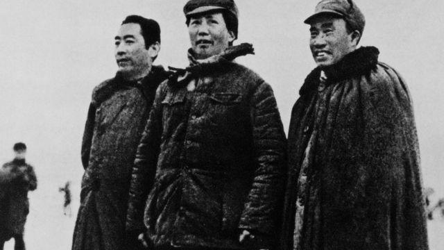 Chu Ân Lai, Mao Trạch Đông và Chu Đức năm 1935
