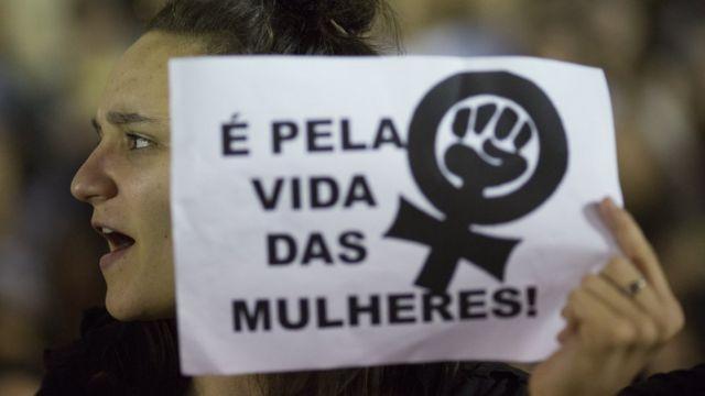 Protesto das mulheres no Rio de Janeiro