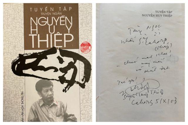 Tuyển tập truyện ngắn ông Nguyễn Huy Thiệp tặng bà Hà Mi (Ngọc)