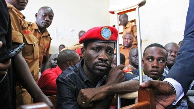 Bobi Wine akiwa mahakamani