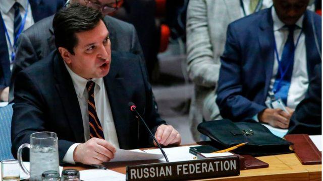 Rusya'nın BM Daimi Temsilci Yardımcısı Vladimir Safronkov.