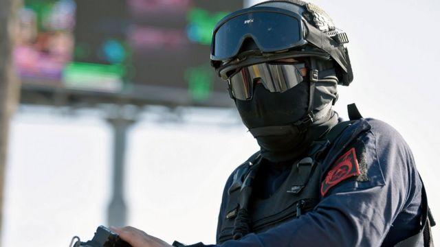 Agente de policía en Culiacán, Sinaloa