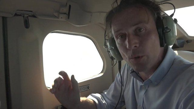 Rupert Wingfield-Hayes reporting from a plane