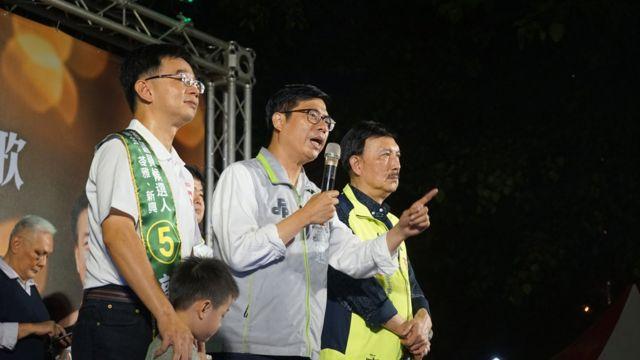 擔任過立委、代理高雄市長與總統府副秘書長的陳其邁,現在也是民進黨高雄市長的大熱門。