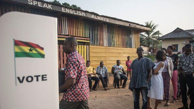 Les électeurs ghanéens