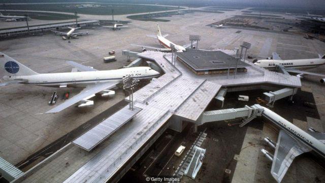 ภาพสนามบินมุมสูง