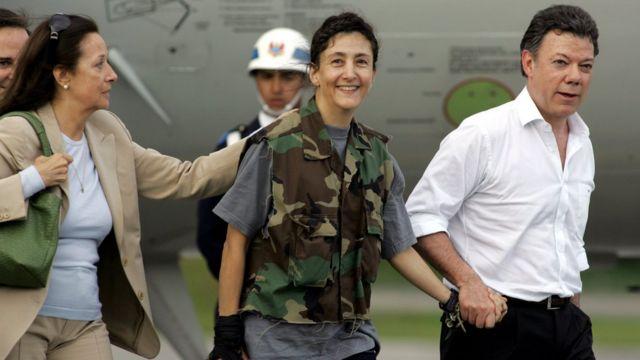 Ingrid Betancourt en 2008