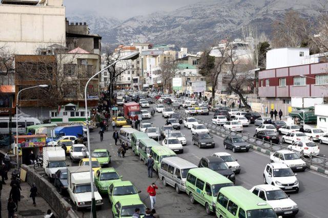 View of Tehran, Iran, in January 2021.