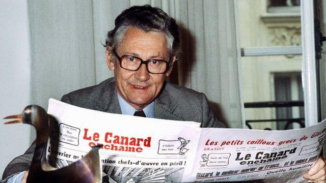 Roger Fressoz, editor jefe de Le Canard Enchaîné entre 1969 y 1992