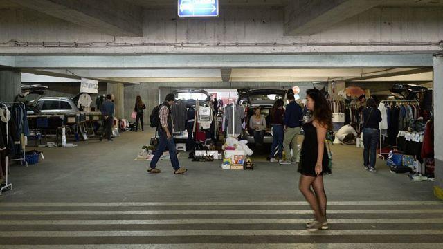 Mercado improvisado Lisboa