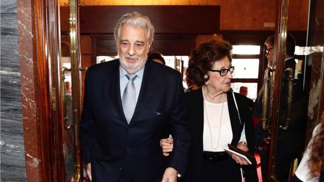 Plácido Domingo con su esposa Marta Ornelas