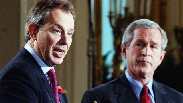 Джордж Буш и Тони Блэр