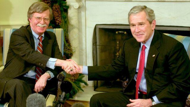 2006年,博爾頓與小布什總統