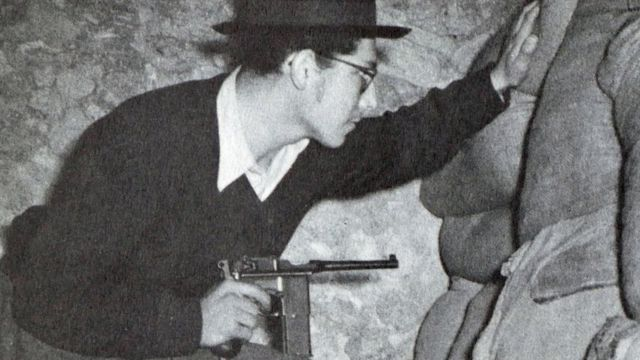 Combatiente judío durante la guerra de independencia israelí