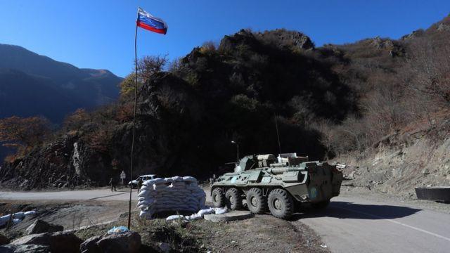 Российские миротворцы в Кельбаджарском районе