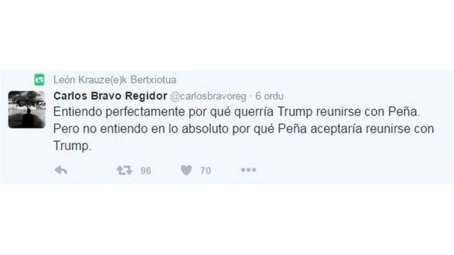 Tuit de Carlos Bravo Regidor
