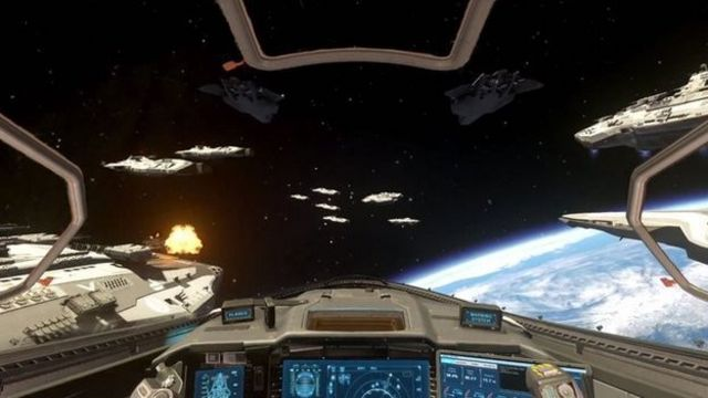 The latest instalment features space battles in a futuristic sci-fi setting