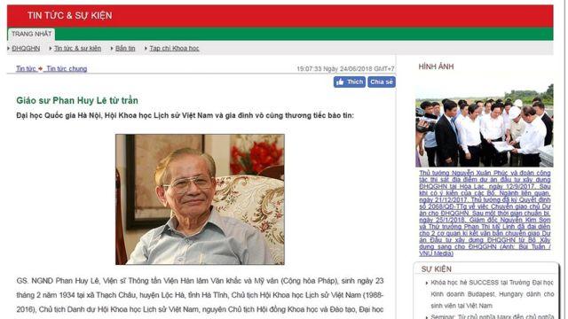 Website của Đại học Quốc gia Hà Nội