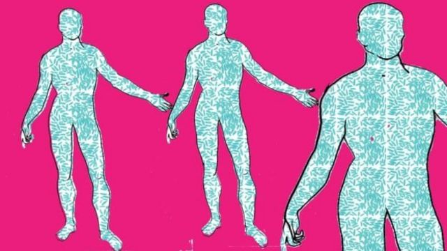ภาพจำลองจุลินทรีย์ในร่างกายคน