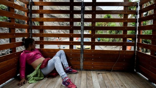Venezolana embarazada