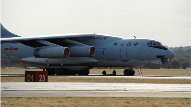 马来西亚军方被闯入马方专属经济区的中国军机,包括伊尔76型运输机。 (资料图片)