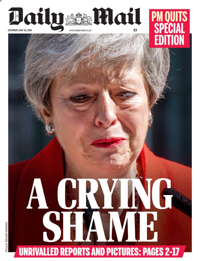 Newspaper headlines: 'It all ends in tears' for PM May