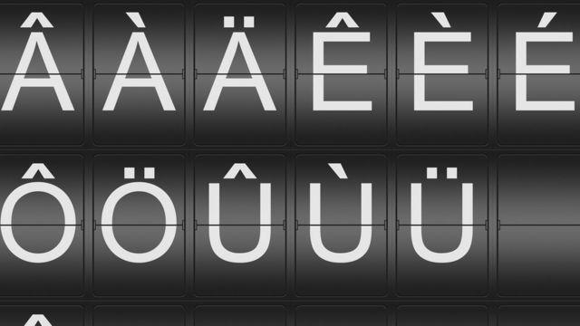 Letras con signos de puntuación