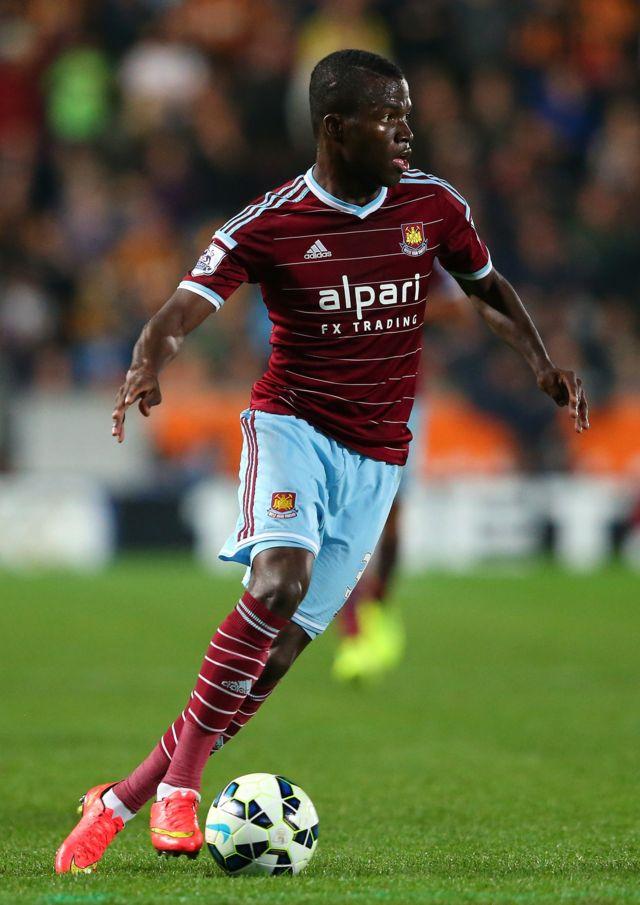 Valencia en acción para el West Ham.