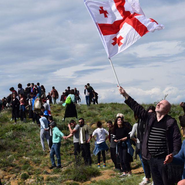 протест против недопуска паломников к давид гареджа