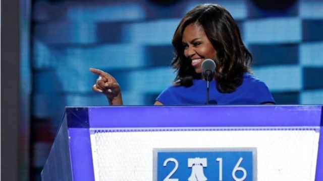 Michelle Obama en la Convención Demócrata.