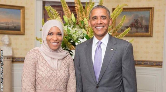 Ibtihaj Muhammad y Barack Obama