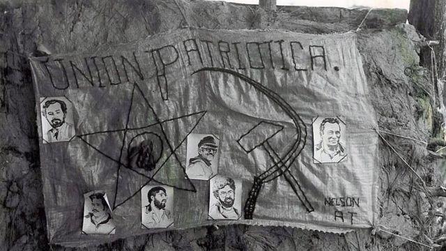 Bandera en apoyo a la Unión Patriótica