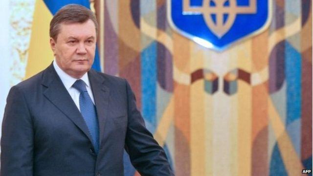 El expresidente Yanukovych en 2013
