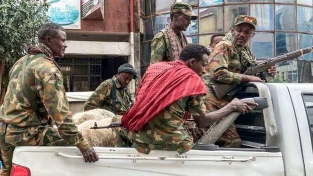 قوات موالية للحكومة الإثيوبية