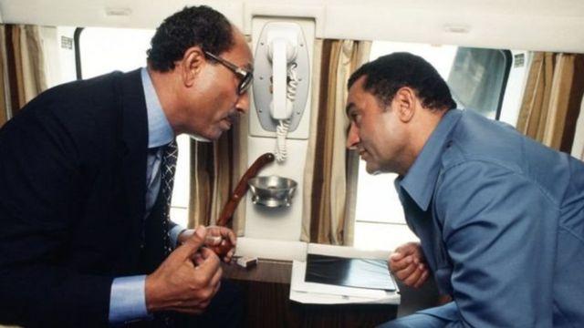 埃及總統薩達特和副總統穆巴拉克