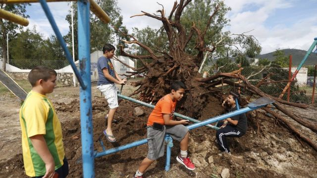 Storm Patricia weakens over Mexico but risks remain