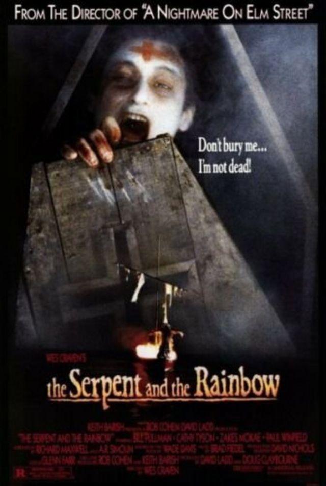 """Cartel de la película """"La serpiente y el arco iris"""""""