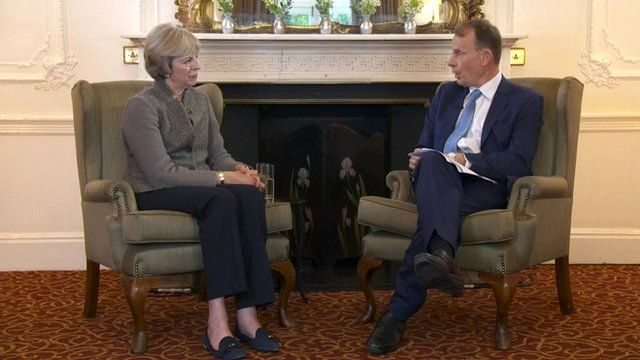 Theresa May and Andrew Marr