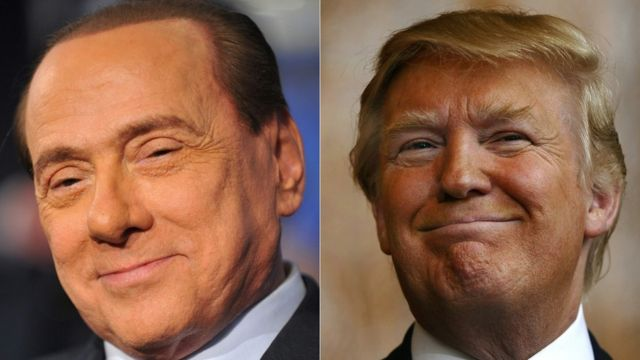 كثيرا ما عقدت المقارنات بين ترامب وبرلسكوني على الصعيدين الشخصي والسياسي