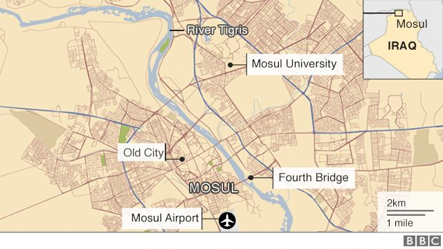 Map of Mosul