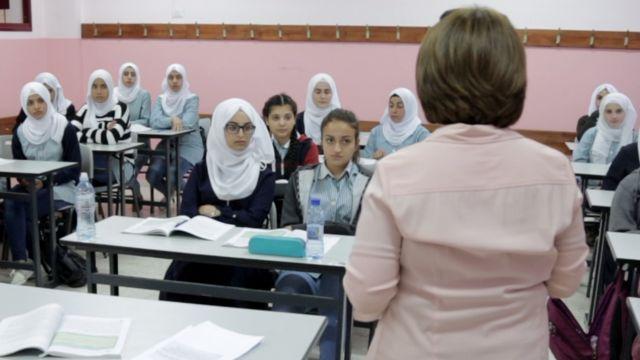 Siswa di Ramallah