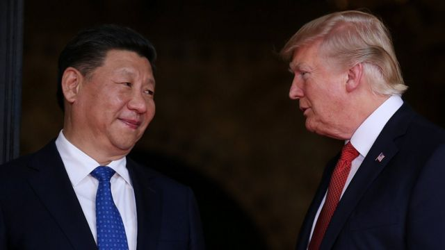 Çin Devlet Başkanı Xi Jinping ve Donald Trump