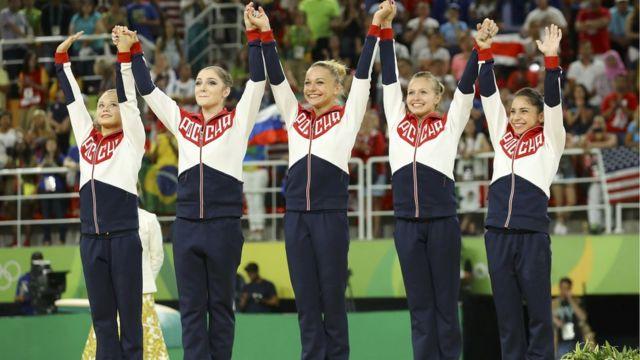 Команда, в которую вошли Ангелина Мельникова, Дарья Спиридонова, Алия Мустафина, Седа Тутхалян и Мария Пасека, набрала 176,688 балла