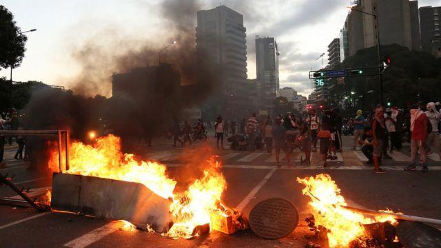 Protestas contra el gobierno de Nicolás Maduro en Caracas