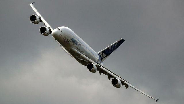 Un Airbus A380.
